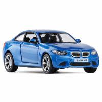 1:36 BMW M2 Die Cast Modellauto Auto Spielzeug Model Sammlung Pull Back Blau