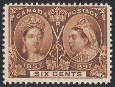 Canada 6c QV Diamond Jubilee, Scott 55, F-VF MH, catalogue - $225