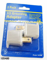 2-Prong to 3-Prong AC Power Adapter (2-Pack), UL listed