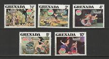 Grenada 5 timbres neufs 1980 Walt Disney Blanche Neige /T3069