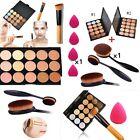 15 Farben Concealer Palette Kit + Bürsten-Schwamm-Gesichts-Make-up-Form-Creme