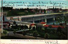 USA postcard Philadelphia Girard Avenue Bridge (a886)