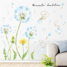 Flying Dandelion Bedroom Background Self-adhesive Wall Sticker Decor Decal Mural