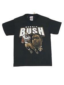 Vintage Reggie Bush New Orleans Saints Big Face Shirt Youth Size M 10/12 Black