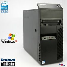 COMPUTER IBM THINKCENTRE M81 PC INTEL DUALCORE G840 4GB DDR3 WINDOWS XP 7 RS-232