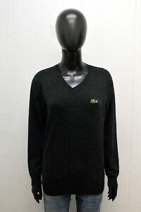 Maglione Donna Lacoste Taglia M Pullover Grigio Maglia Felpa Women's Sweater