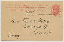 2456 1912 EVII 1 D pc from PHILATELIST/STAMPDEALER HUGO GRIEBERT, LONDON WC, RR!