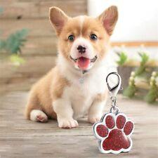 Dog Cat Tag Collar Pendant Pet Accessories Pet Id Tag with Shiny Rhinestone