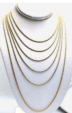 """Gold Plated Yellow 2.5mm Rope Chain 24"""" 11.4gr 90%Silver 10% 14K Gold"""
