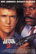 LETHAL WEAPON 2 classic movie poster MEL GIBSON DANNY GLOVER cops 24X36 BOLD