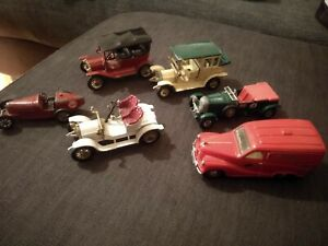 Lesney Cars Models Of Yesteryear. Years 1, 3, 4, 5, 6.