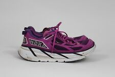 HOKA ONE ONE W Clifton Women's Plum/Fuschia/White Sneaker 8M Running Shoes