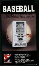 BASEBALL COACHING TEE BALL TEAMS BSV 061 VHS GREAT FUN DRILLS COND: VERY GOOD