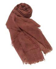 "Cotton Crinkle Hijab Scarf Soft Islam Muslim Maxi Viscose Shawl Rosewood 70""x35"""