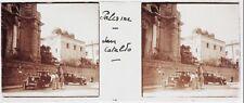Italie Palermo Voiture Plaque de verre Stereo Positif Vintage PL33L6P-12
