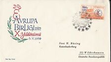 EU71) Turkey 1959 - Europa Stamps On First Day Cover