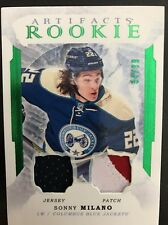 2016/17 Ud Artifacts Hockey Rookie Sonny Milano Emerald Jersey/Patch 34/99 Sick