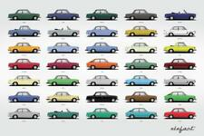 BMW 2002 2002tii 1600 COLORS Poster Print