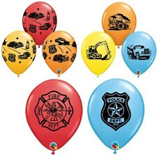 Vehicle Printed Qualatex Latex Balloons-Children Birthday Party 6 x 27.7cm 11/""