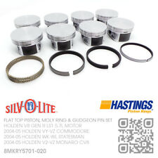 """LS1+.020"""" FLAT TOP PISTONS & MOLY RINGS GEN 3 V8 5.7L [HOLDEN VY-VZ COMMODORE]"""
