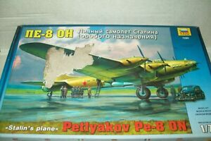 ZVESDA   PETLYAKOV Pe-8  SOVIET WW2 BOMBER / TRANSPORT   1:72 scale  kit