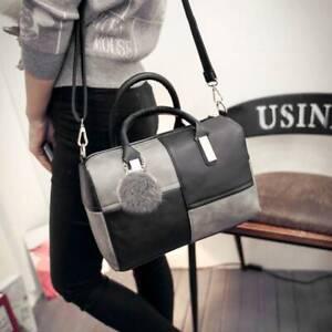 Ladies Womens Leather Shoulder Bag Tote Messenger Crossbody Satchel Purs Handbag