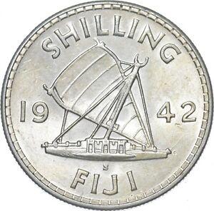 Better - 1942 Fiji 1 Shilling - TC *064