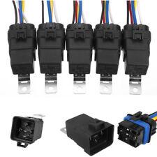 5X Wasserdicht 5PIN  SPDT Auto Relay mit Kabelbaum & Socket Halter 18/16AWG 12V