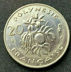 1983 French Polynesia 20 Francs UNC Coin      World Coin Nickel      #K1543