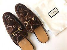 GUCCI Mens 'Princetown' Brown GG Velvet Horsebit Loafer Sz 9 UK (9.5 US) $750