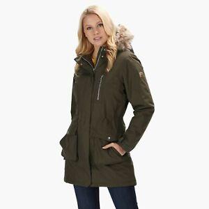 Regatta Women's Serleena Fur Trimmed Waterproof Insulated Jacket Green