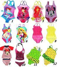 Girls Swimsuit Bather Swimwear Bikini Mermaid Minnie Kitty Princess Size 1-16