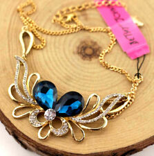 Pendant Betsy Johnson Enamel Jewelry rhinestone irregular crystal Necklace gift