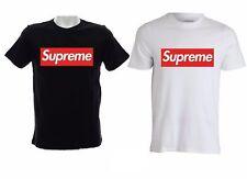 T-shirt maglietta Logo Supreme box Maglia Uomo Donna Bambino bianca nera