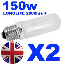 2x Halogen Long Life Modelling Bulb / Lamp / Light 150w for Bowens / Elinchrom
