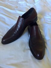 Via Spiga Herbert Wing Tip Slip-On Men's Leather Loafers Dress Shoes 8.5