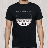 New BOC Blue Oyster Cult album Logo Men's Black T-Shirt Size S to 3XL