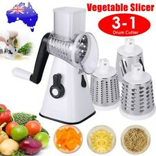 AU Kitchen Multifunction Vegetable Slicer Food Manual Rotary Drum Grater Chopper