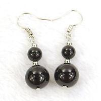 women's fashion drop dangle earrings 6mm 10mm natural gemstone stone beads