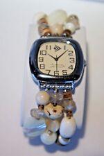 SILPADA Silver Triple Strand Natural Beads Stretch Bracelet T1854 Watch New