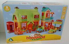 ELC Happyland Rose Cottage Bakery Greengrocer People Cars Village Gift Set