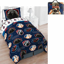 Boys Bedding Set 4pc Twin Star Wars Bed in a Bag Colorful Reversible Comforter