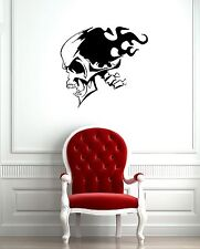 Wall Stickers Vinyl Decal Skull Tattoo Fire Death ig684