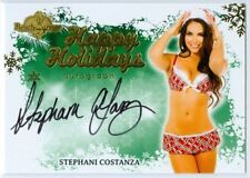 "STEPHANIE COSTANZA ""HAPPY HOLIDAYS AUTOGRAPH"" BENCHWARMER HOLIDAY 2013"