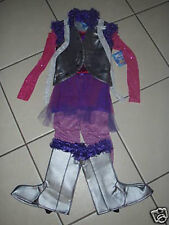 NWT! DISNEY STORE Silver HANNAH MONTANA Fancy Dress Halloween COSTUME S 7/8