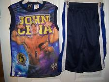WWE John Cena Wrestling 2 Piece Shorts & Shirt Set Boys Size 6 / 7 NWT #48
