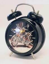 Sports Bike Sound Alarm Clock Black