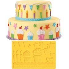 Moule Silicone Wilton Kids Fête Cupcake Étoiles Bugies Drapeaux Moulinette