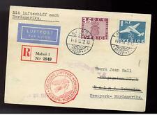 1936 Malmo Sweden Hindenberg Zeppelin Cover to USA LZ 129