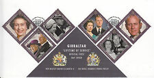 Gibraltar 2011 FDC Lifetime of Service 6v Set Cover Prince Philip Queen Stamps